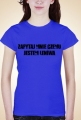 Leniwiec - koszulka zwykła nadruk obustronny damska