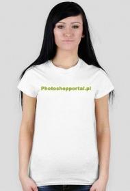 koszulka z napisem damska