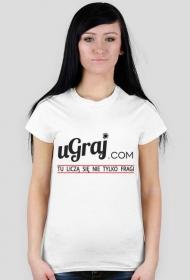 T-Shirt damski z logiem na przodzie