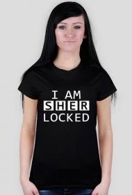 "Koszulka damska ""Sherlocked"" #1 (czerń)"