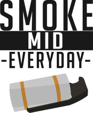 CSGO: Smoke Mid Everyday (Jasna koszulka, męska)