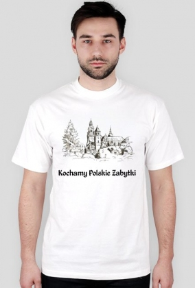 Koszulka męska Kochamy Polskie Zabytki v.2