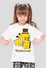Pikachu Gentelmen - koszulka dziewczęca
