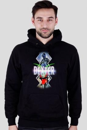 Bluza męska z kapturem - czarna - DeXteR Moto