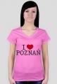 I Love Poznań Koszulka dla Pań
