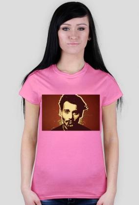 johnny depp koszulka damska