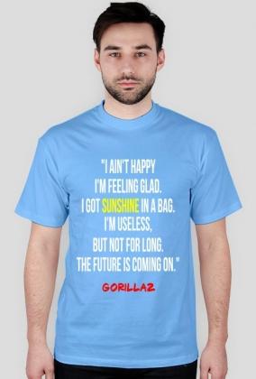 Koszulka Gorillaz, cytat.