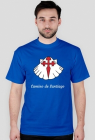 Koszulka Camino de Santiago- muszla z krzyżem