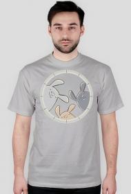 Koszulka męska - t-shirt - króliczki