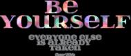 Be yourself - koszulki z kolorowymi rękawkami