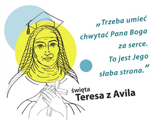 Koszulka Teresa z Avilla (biel męska)