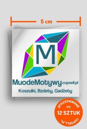 MuodeMotywy - Wlepka naklejka 12szt.
