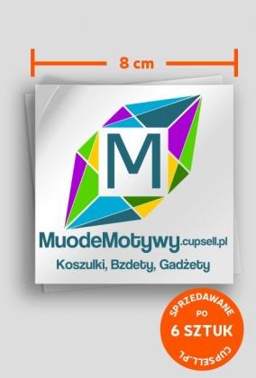 MuodeMotywy - Wlepka naklejka 6szt.