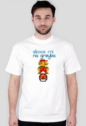 Oldschoolowy t-shirt Mario grzybek