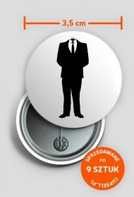 Przypinka Anonymous HAKER [MAN]