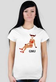 Koszulka seksowny GNU [WOMEN]