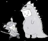 Godzilla vs Samurai