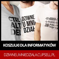 Sklep informatyka - Koszulki i kubki informatyczne, Dziwne, u mnie działa - koszulki dla informatyków - koszulki dla osób, u których wszystko działa